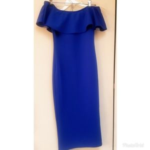 Royal Blue Strapless Bodycon Dress NEW